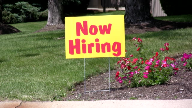 Now hiring sign video