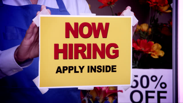 Now Hiring Window Sign
