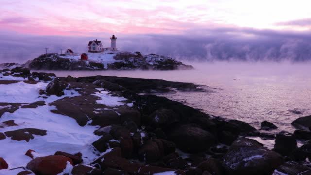 Nubble Lighthouse in Arctic Sea Smoke