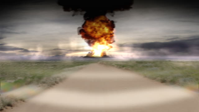 Nuclear bomb in city