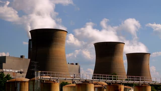 Nuclear Cooling Towers HD video