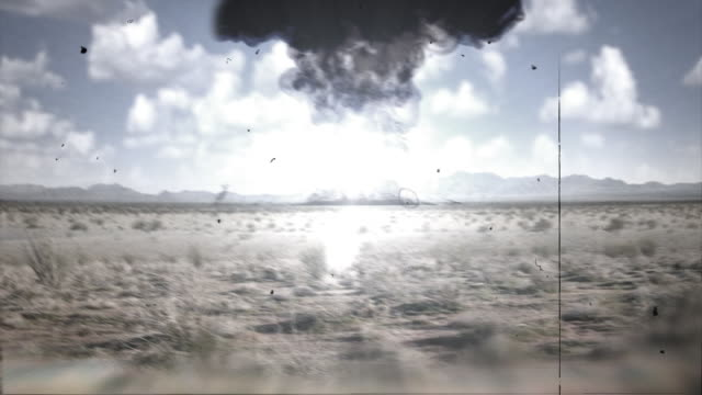 Nuclear Explosion 16mm style footage  nuclear missile stock videos & royalty-free footage