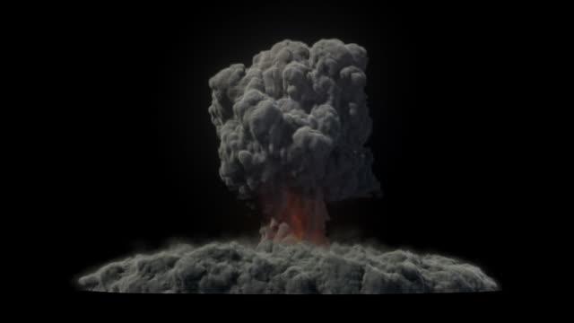 vídeos de stock e filmes b-roll de explosão nuclear - bomba