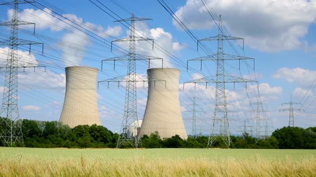 centrale nucleare - reattore nucleare video stock e b–roll
