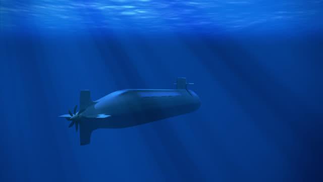 nuclear submarine - sotto video stock e b–roll