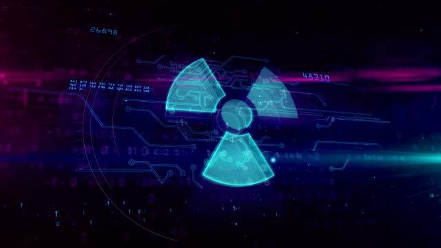 Nuclear warning symbol hologram