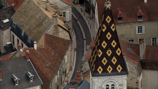 Nuits-Saint- George - Aerial View - Bourgogne, Cote d'Or, Arrondissement de Beaune, France video