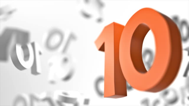 Number 10 Looped Background