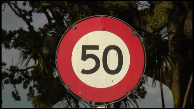 (HD1080) Number 50 / Fifty On Sign video