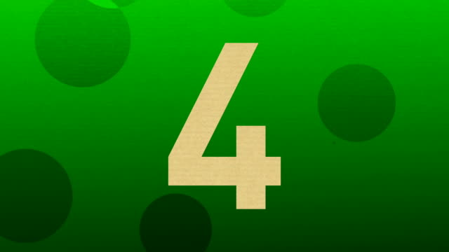 Number Four  For Intro and Countdowns video