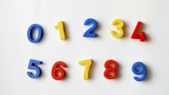 number fridge magnets video