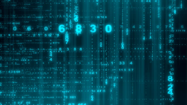 numeri b-hd, loop - linguaggio informatico video stock e b–roll