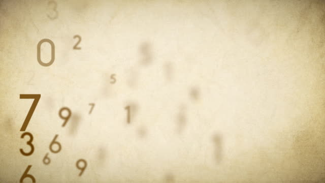 Numbers Background Loop Old Paper - Stock Video video