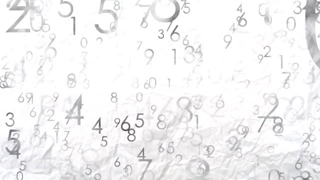 Numbers background, paper texture video