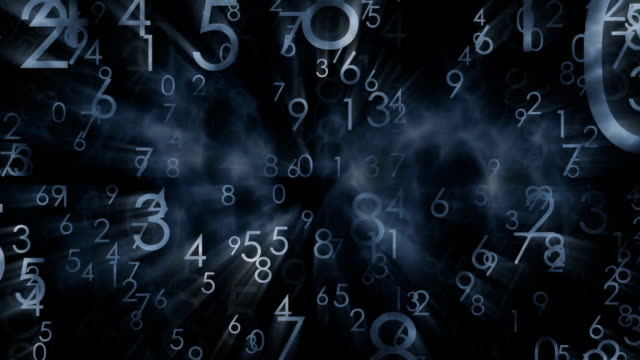 numbers, black abstract background - sorte video stock e b–roll