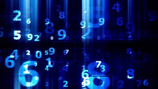 Numbers board background loop video