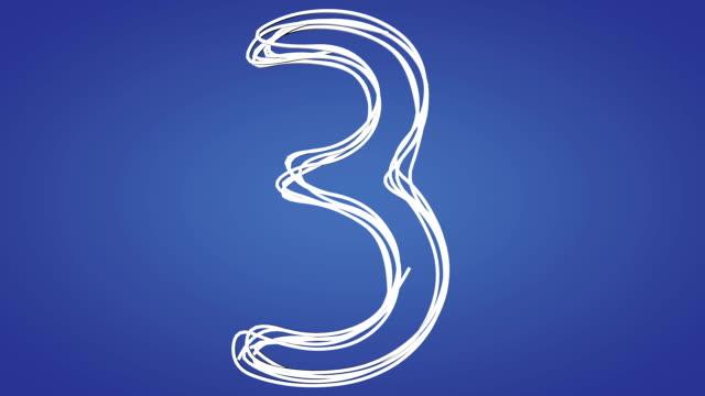 hd da uno a dieci numeri di animazione - numero video stock e b–roll