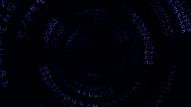 Numbers Technology Abstract Background, Loop video