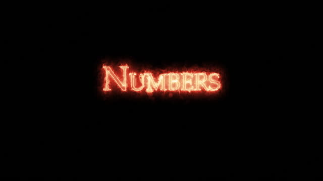 numbers written with fire. loop - ветхий завет стоковые видео и кадры b-roll