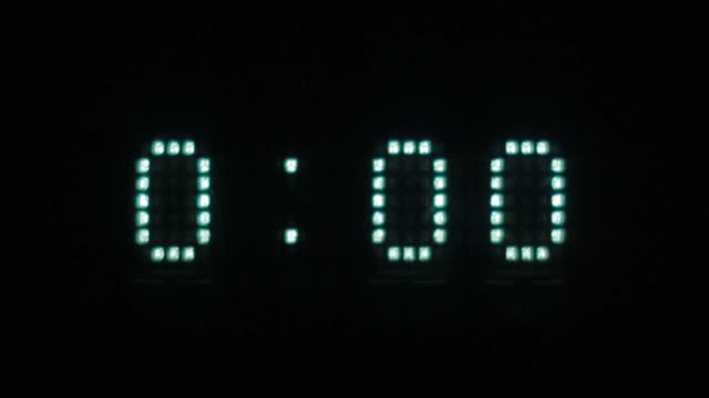 numbers zero on the electronic scoreboard video