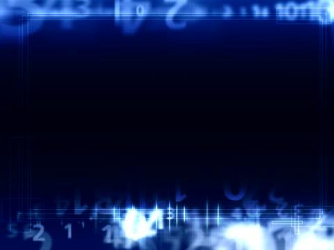 Numerical dark blue background video