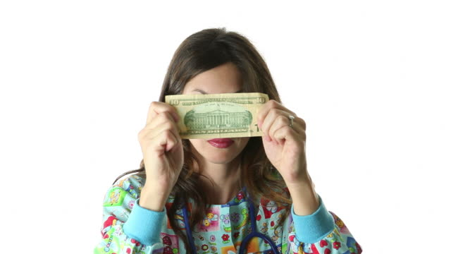 Nurse Showing Money video
