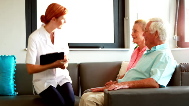 Nurse visiting her patients video