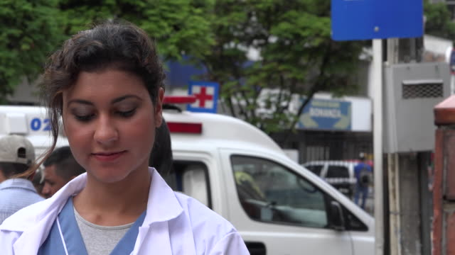 Nurse with Ambulance video