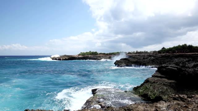 Nusa lembongan beach landscape in Bali video