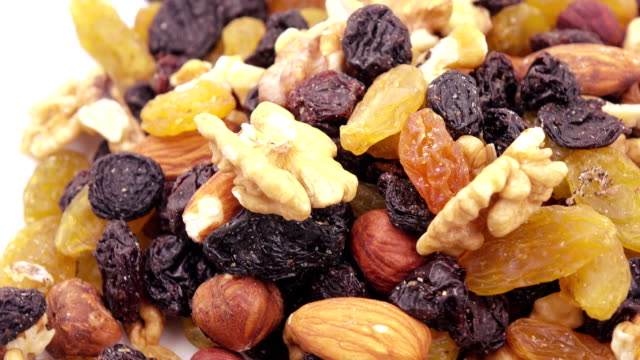 Nuts and dried fruits in bulk video