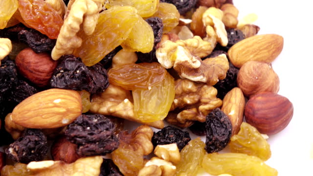 nuts and dried fruits in bulk - noci video stock e b–roll