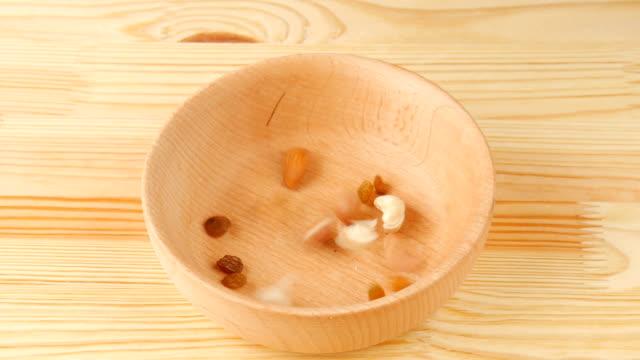 Nuts in vase. – Video