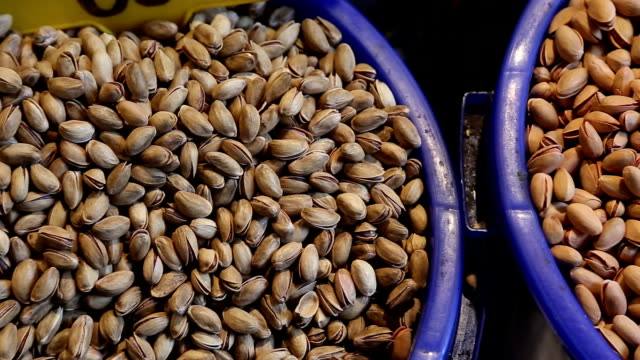 nuts on a oriental bazaar in Istanbul video