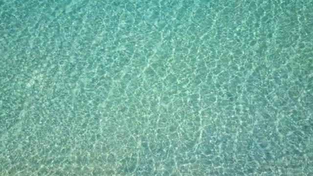 Nyaung Oo Phee lsland. Top view wave crystal water. video