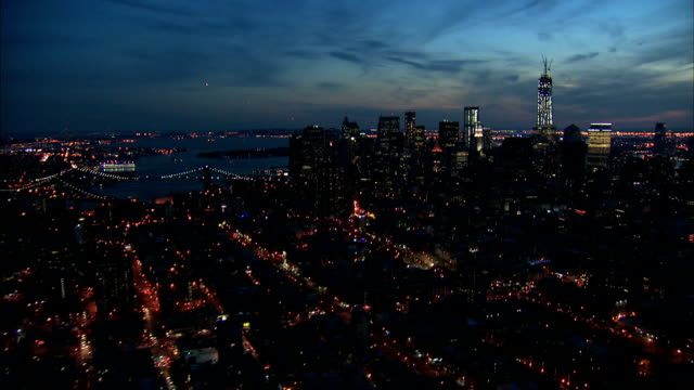 nyc aerial zoom in freedom tower