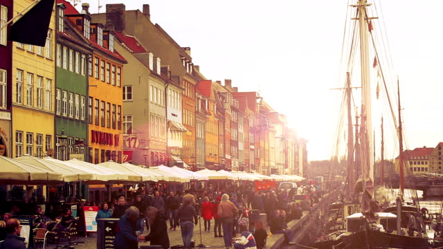 Nyhavn famous road in Copenhagen video
