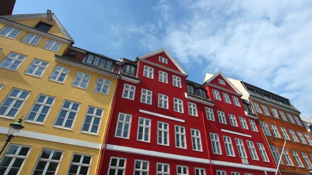 Nyhavn multicolored house facade in Copenhagen video