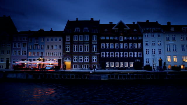 Nyhavn Panorama in Copenhagen Denmark video