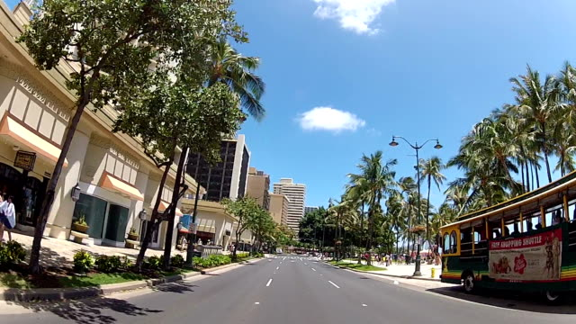 Oahu Island Cityscape seen from the car window jp201806 stock videos & royalty-free footage