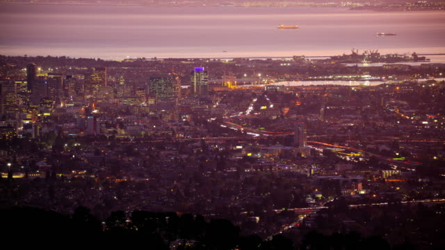 Oakland, California California 4K footage series traffic time lapse stock videos & royalty-free footage