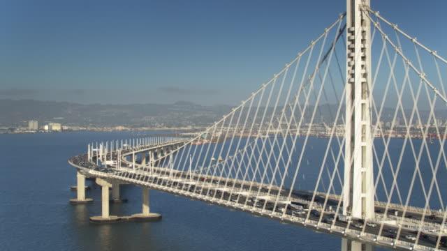 Oakland Cityscape and the Bay Bridge - Drone Shot