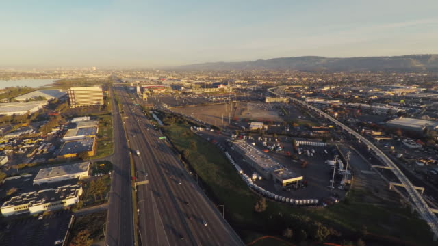 Oakland Sunrise Aerial Oakland Sunrise Aerial oakland stock videos & royalty-free footage