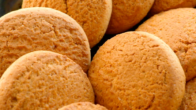 Oatmeal Cookies, close-up video