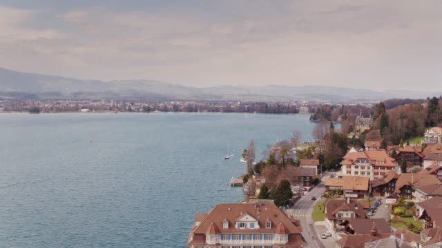 Oberhofen am Thunersee, Switzerland from Above video