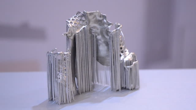 Object printed on metal 3d printer.
