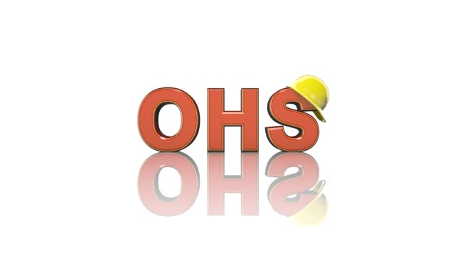 Occupational health and safety safe work place WHS HSE OSH 3D title animation