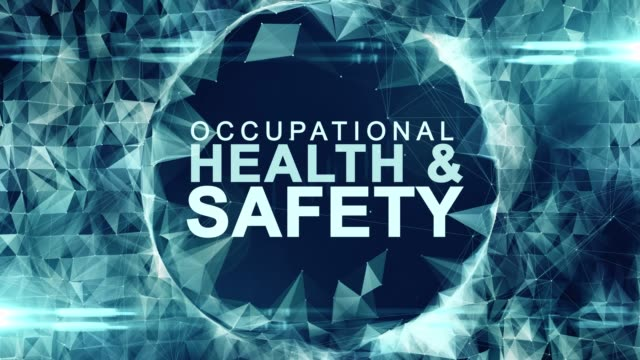 Occupational health and safety safe work place WHS HSE OSH title animation