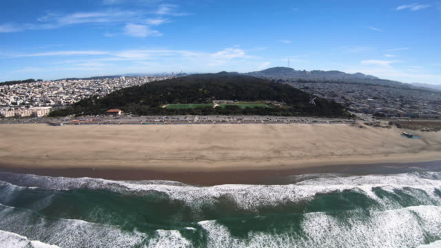Ocean Beach Golden Gate Park San Francisco California Aerial View From Helicopter