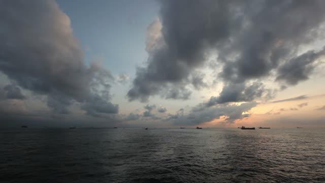 Ocean clouds video