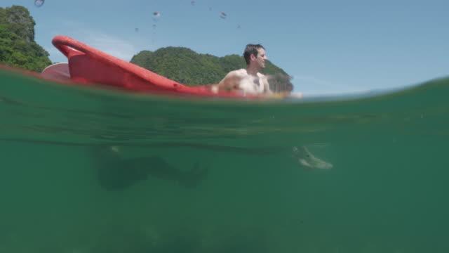 stockvideo's en b-roll-footage met 4k uhd: oceaan kajakken - rocks sea